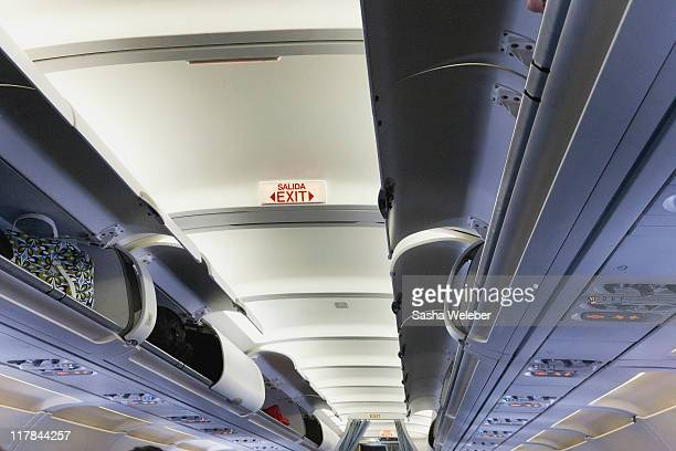 Overhead bins in Airplane