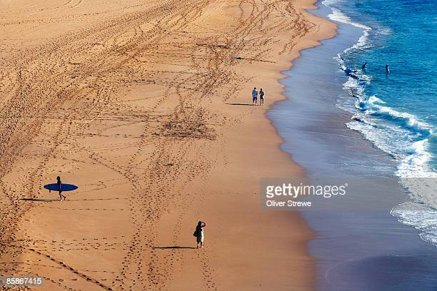 Overhead of Avalon Beach, northern beaches, early morning.
