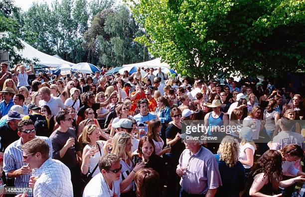 Overhead of crowd, Toast Martinborough Wine, Food & Music Festival.