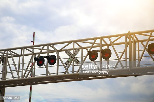Railroad crossing gate stock photos and pictures getty
