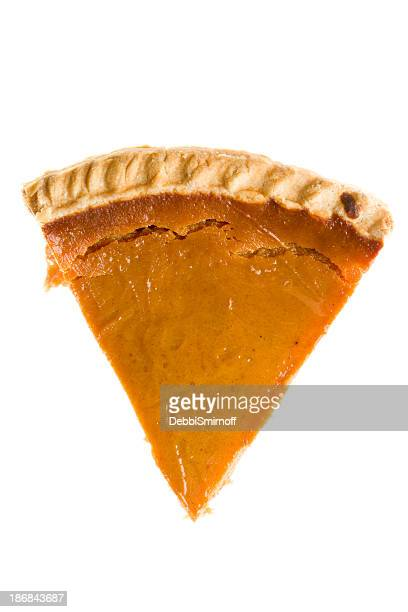 Overhead Slice Of Pumpkin Pie