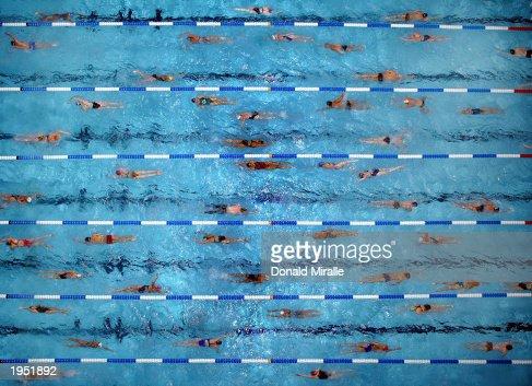 Overhead swim of warm ups