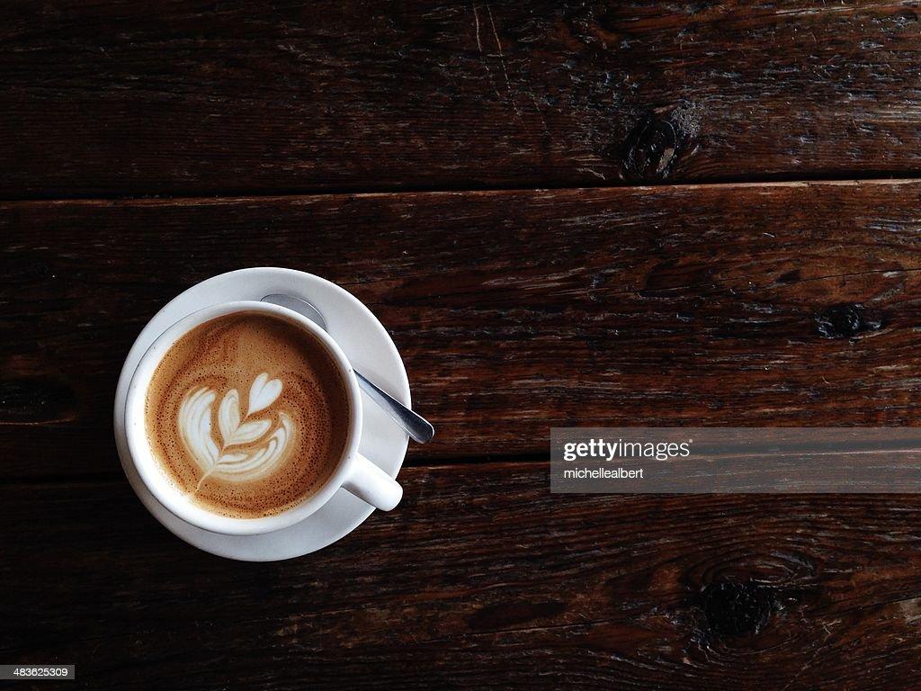 Kunst der Herstellung latte : Stock-Foto