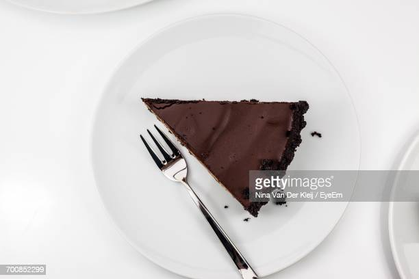Overhead View Of Chocolate Cake