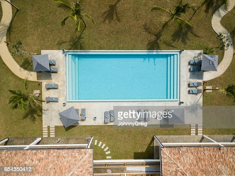 keywords aerial view - Rectangle Pool Aerial View
