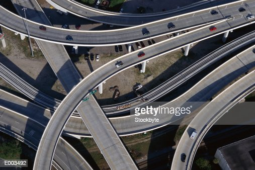 Overhead view of freeway