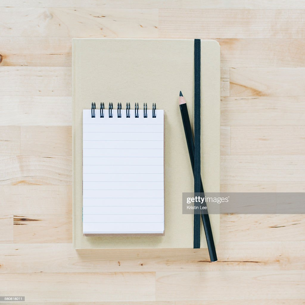 Overhead view of notebooks