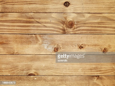 Overhead view of old light brown wooden table