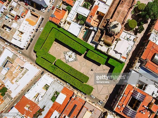 Overhead view of Santiago de Queretaro Mexico