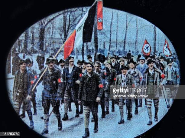 overland march by Nazi party members 1922 Germany