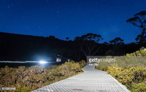 Overland Track Hut at Night