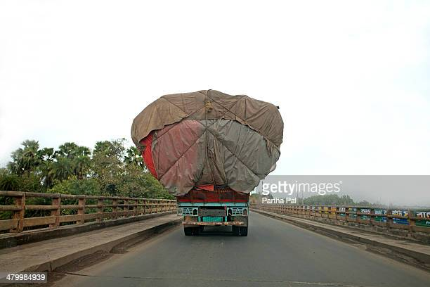 Overloaded Truch in National Highway,India