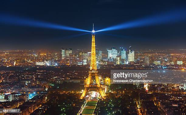 Overlook of Eiffel Tower in Paris France