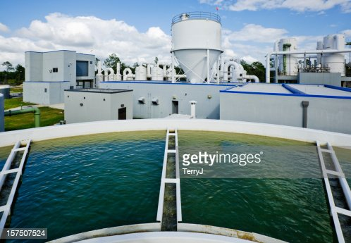 Overlooking a Water Tank at Water Treatment Plant