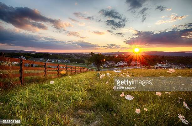 Overlooking Blacksburg Virginia and Virginia Tech