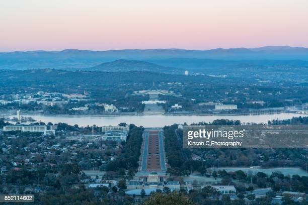 Overlooking Canberra from Mount Ainslie Lookout, ACT, Australia