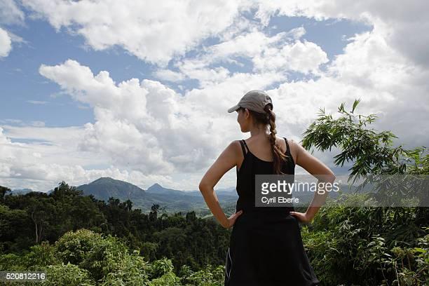 Overlooking Lao mountains