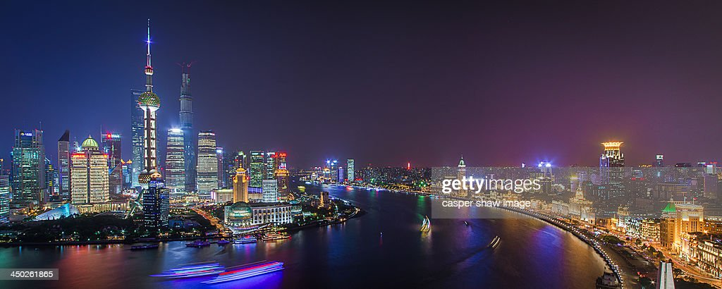 Overlooking the large Shanghai