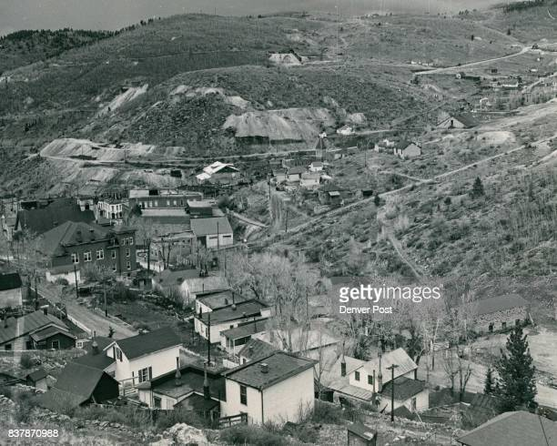 Overlooking the town of Central City Colorado which was visited by Sunday newspaper editors while attending their fourth annual convention held in...