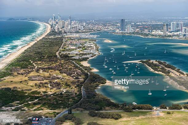 Overlooking view of the gold coast in Australia.
