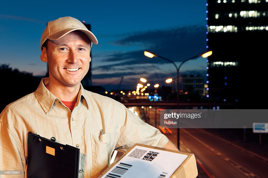 overnight parcel delivery (series) : Stock Photo