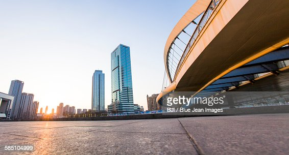 Overpass and buildings in Tianjin, China