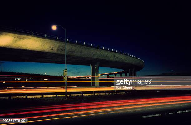 Overpass with blurred traffic