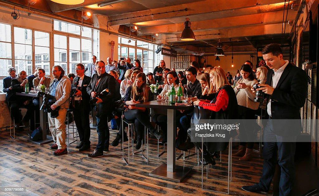 Overview at the Nespresso 'Auf einen Kaffee mit...' on February 12, 2016 in Berlin, Germany.