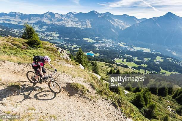 Overview Bikeparadise Lenzerheide, Graubünden , Switzerland
