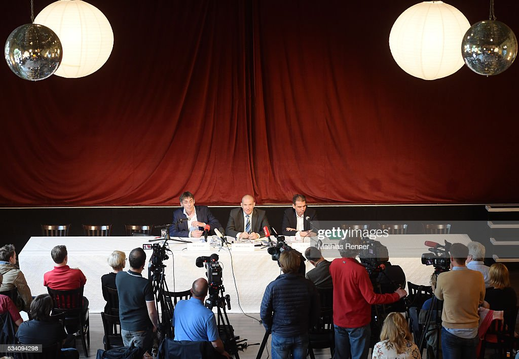 Overview during press conference on may 25, 2016 in Berlin, Germany.