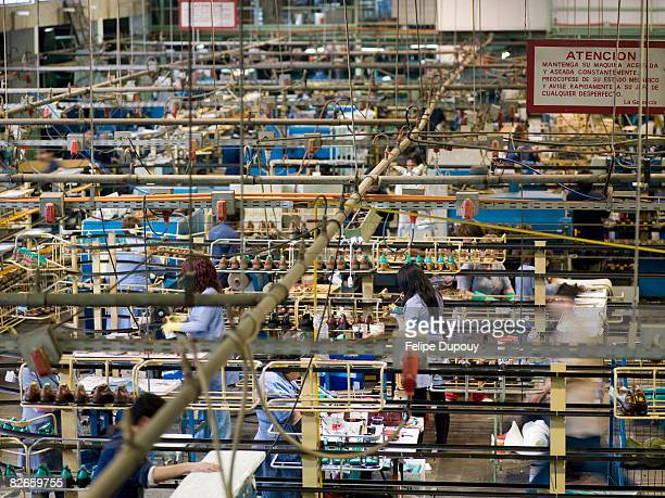 Overview of a factory at work
