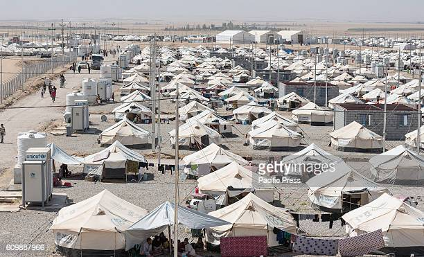 DEBAGA DIBAGA MAKHMOUR IRAQ Overview of a part of the Dibaga for Internally Displaced Person after the Iraqi Defense Forces liberated their villages...