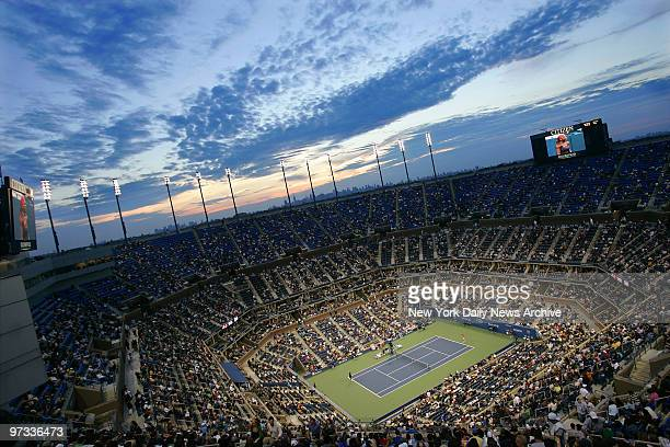 Overview of Arthur Ashe Stadium in Flushing MeadowsCorona Park during the fourthround 2006 US Open match between Serena Williams and Amelie Mauresmo