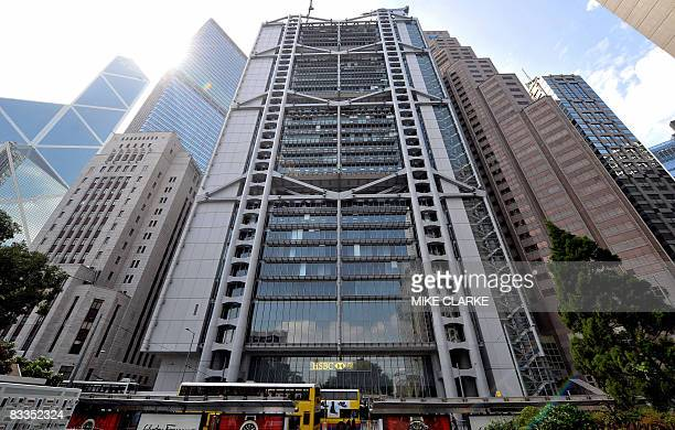 Overview of Bank of China building HSBC headquarters and Standard Chartered Bank in Hong Kong on October 9 2008 The Hong Kong Monetary Authority On...