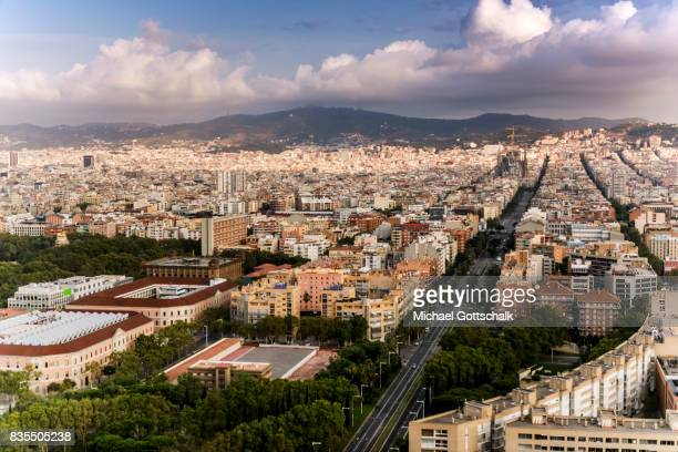 Overview of Barcelona on August 19 2017 in Barcelona Spain
