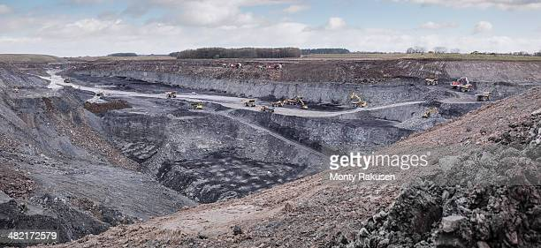 Overview of excavation and geology in surface coal mine