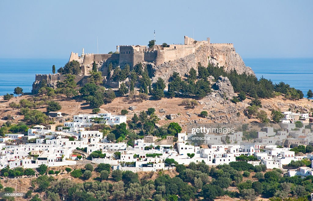 Overview of Lindos on Rhodes island, Greece. : Stock Photo