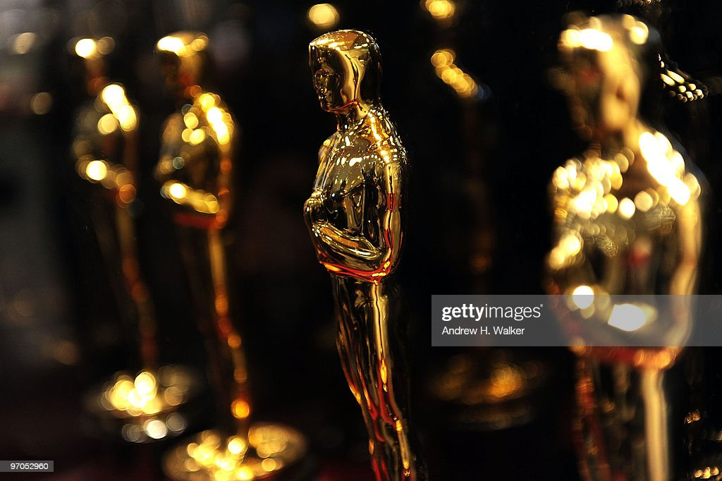 Overview of Oscar statues on display at 'Meet the Oscars' at the Time Warner Center on February 25 2010 in New York City