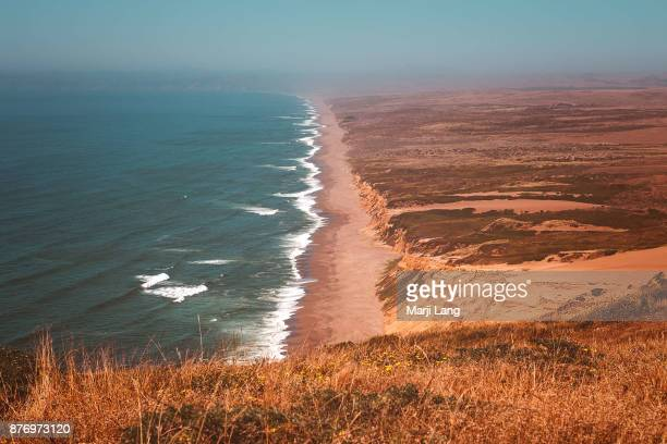 Overview of Point Reyes National Seashore in northern California USA