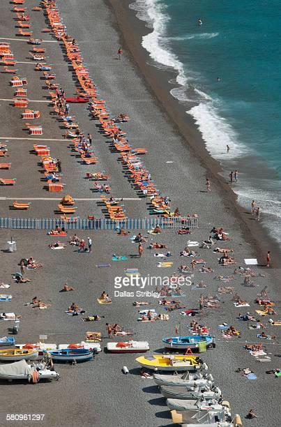 Overview of Spiaggia Grande (main beach), Positano