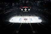 A overview of STAPLES Center is seen before Game One of the Western Conference Quarterfinals between the Los Angeles Kings and the San Jose Sharks...