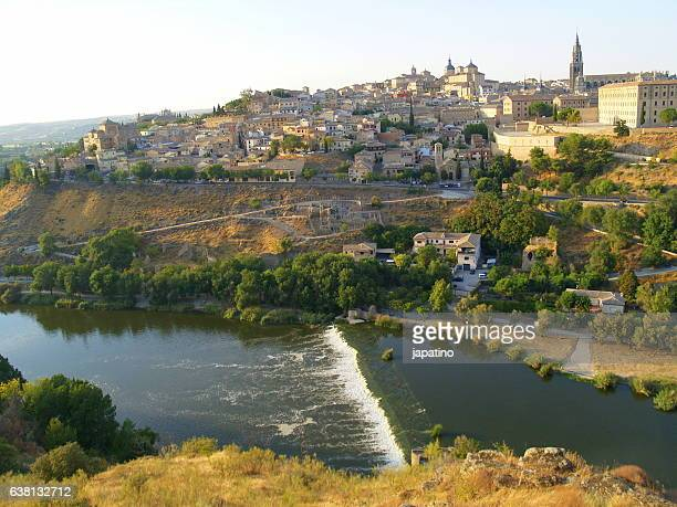 Overview of the city of Toledo and the Tagus River that surrounds the city