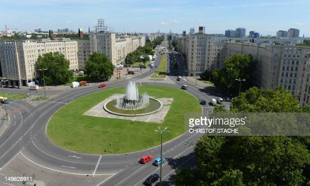 Overview of the KarlMarxAllee and the Strausberger Paltz in Berlin can be seen on August 1 2012 Berlin is seeking to have the KarlMarxAlle and the...
