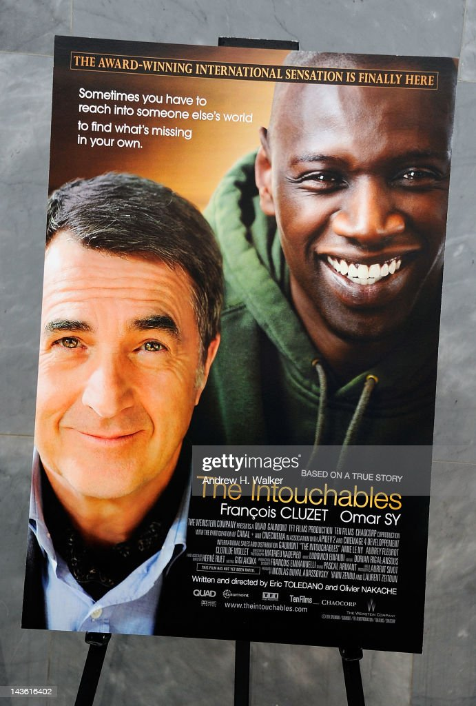 Overview of the movie poster at a screening of 'The Intouchables' at The Paley Center for Media on April 30, 2012 in New York City.