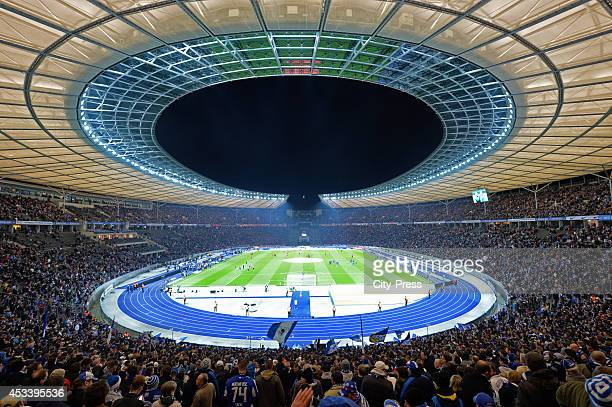 Overview of the Olympiastadion during the Bundesliga game between Hertha BSC and Borussia Dortmund on march 25 2014 in Berlin Germany