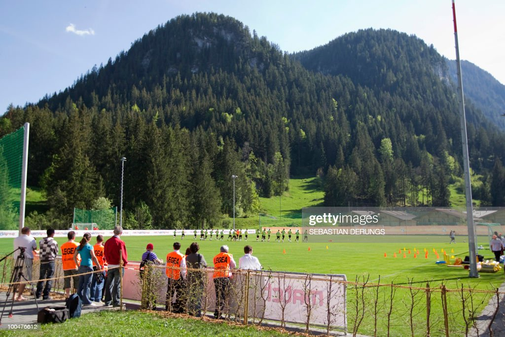 Overview of the playground as players of Ivory Coast team train during a practice session on May 24, 2010 in Saanen, Switzerland, ahead of the FIFA World Cup 2010 finals in South Africa.