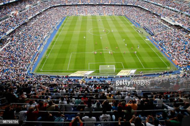Overview of the stadium during the La Liga match between Real Madrid and CA Osasuna at Estadio Santiago Bernabeu on May 2 2010 in Madrid Spain