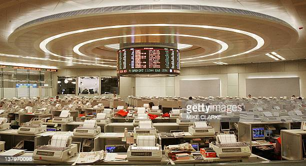 Overview of the Stock Exchange in Hong Kong 16 June 2006 Hong Kong stocks closed the day up 40757 points to 1584265 AFP PHOTO/MIKE CLARKE