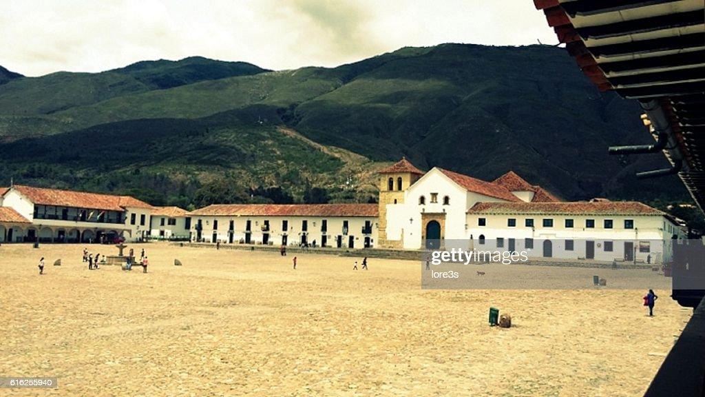 Overview of Villa de Leyva : Foto de stock