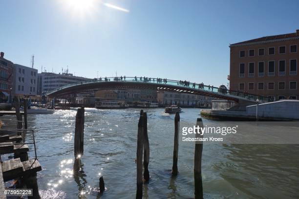Overview on the Constitution Bridge By Calatrava, Venice, Italy